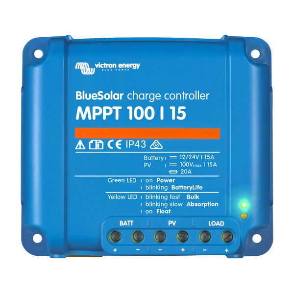 BlueSolar charge controller MPPT 100-15 - Victron Energy