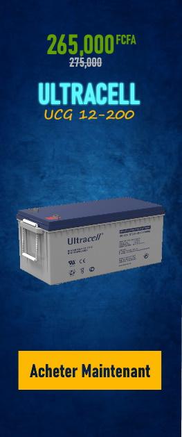 Promotion Batterie ULTRACELL UCG 12-200 sur Wilmosolar Shop