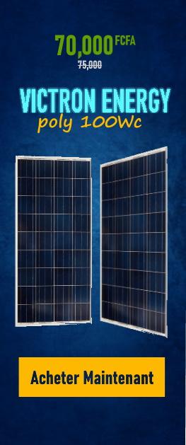 Promotion Panneaux VICTRON ENERGY POLY 100Wc sur Wilmosolar Shop