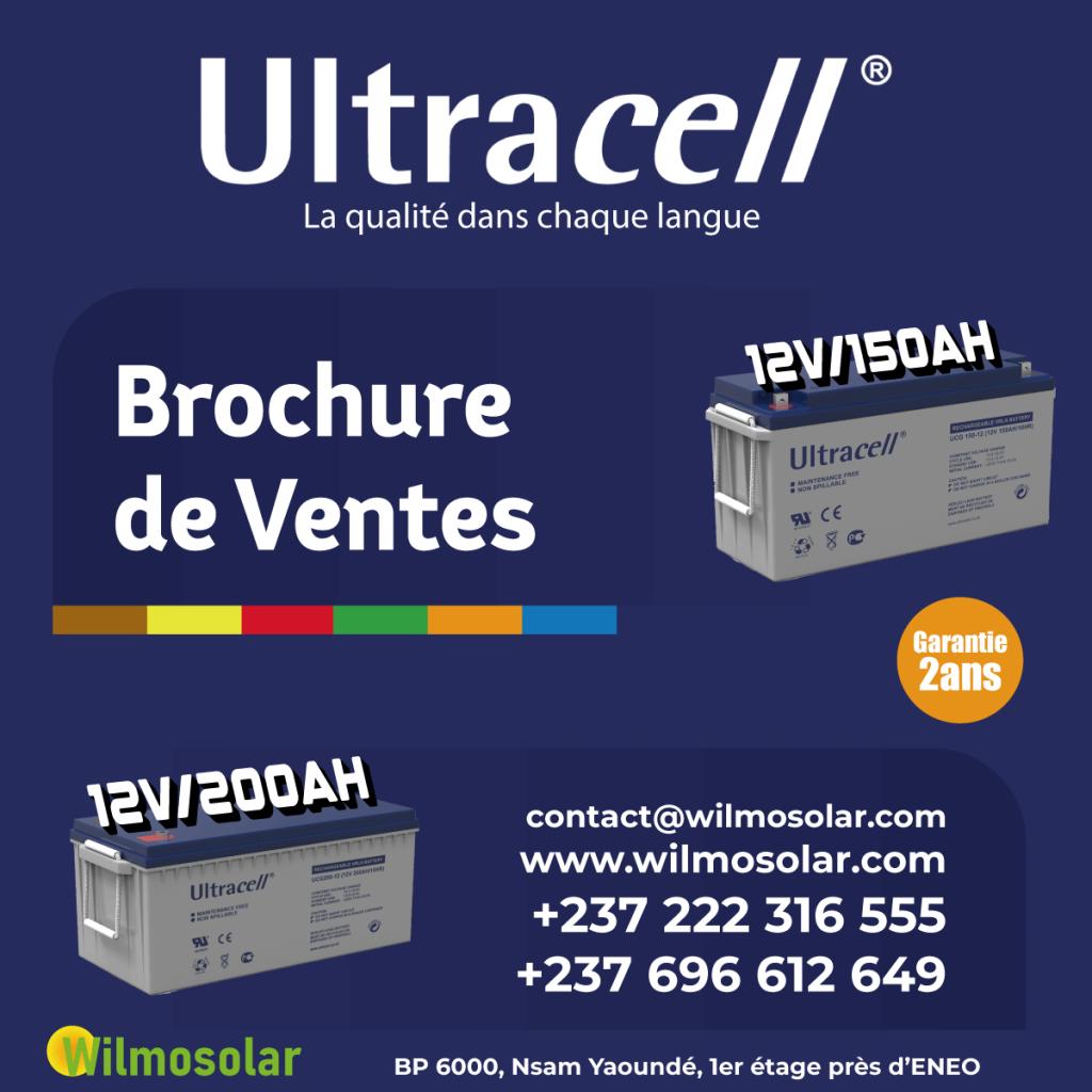 Brochure de vente Battéries Ultracell - Wilmosolar Shop